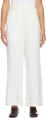 Low Classic Off-White Classic Back Pocket Cotton Trousers
