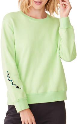 Monrow Oversized Boyfriend Sweatshirt with Snake Embroidery