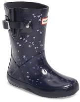 Hunter Toddler Boy's Flat Sole Constellation Waterproof Rain Boot