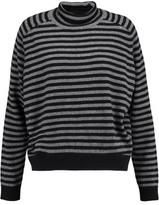 Vince Striped Cashmere Turtleneck Sweater