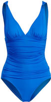 Ralph Lauren Ruched One-Piece Swimsuit