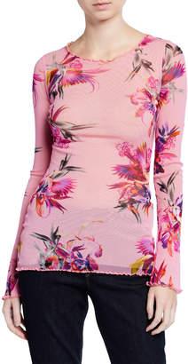 Fuzzi Floral Long-Sleeve Top