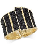 Thalia Sodi Gold-Tone Asymmetrical Glitter Hinge Bracelet, Only at Macy's