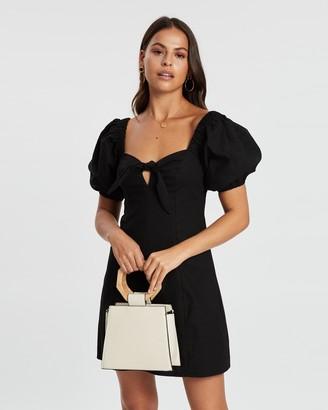 Dazie Feminine Touch Tie Front Mini Dress