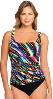 Croft & Barrow Women's Waist Minimizer Striped One-Piece Swimsuit