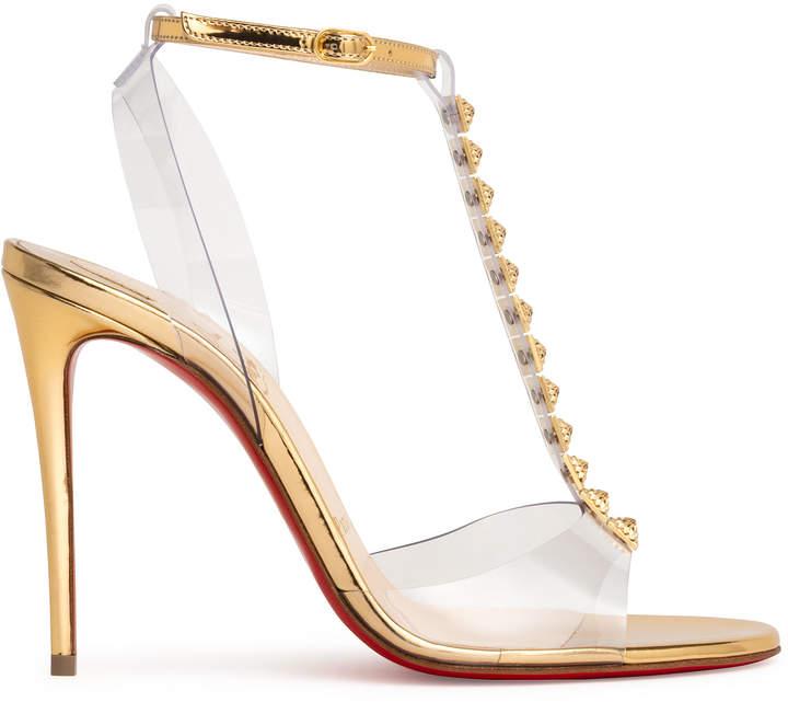 the best attitude 35240 91d12 Jamais Assez 100 pvc and gold sandals