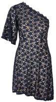 Topshop Star Print Lace Mini Dress