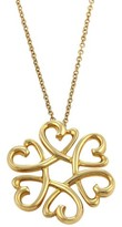 Tiffany & Co. 18K Yellow Gold Paloma Picasso Loving Hearts Pendant Necklace
