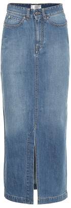 Victoria Victoria Beckham High-rise denim midi skirt