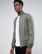 New Look New Look Bomber Jacket In Grey