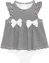 First Impressions Striped Skirted Romper, Baby Girls, Created for Macy's