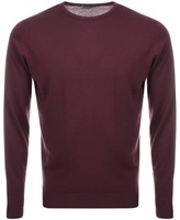 John Smedley Lundy Crew Neck Jumper Red