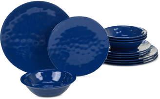 Certified International Cobalt Blue 12-Pc. Melamine Dinnerware Set, Service for 4