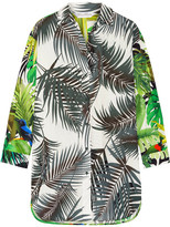 Max Mara Diego Oversized Printed Cotton-poplin Shirt - Green