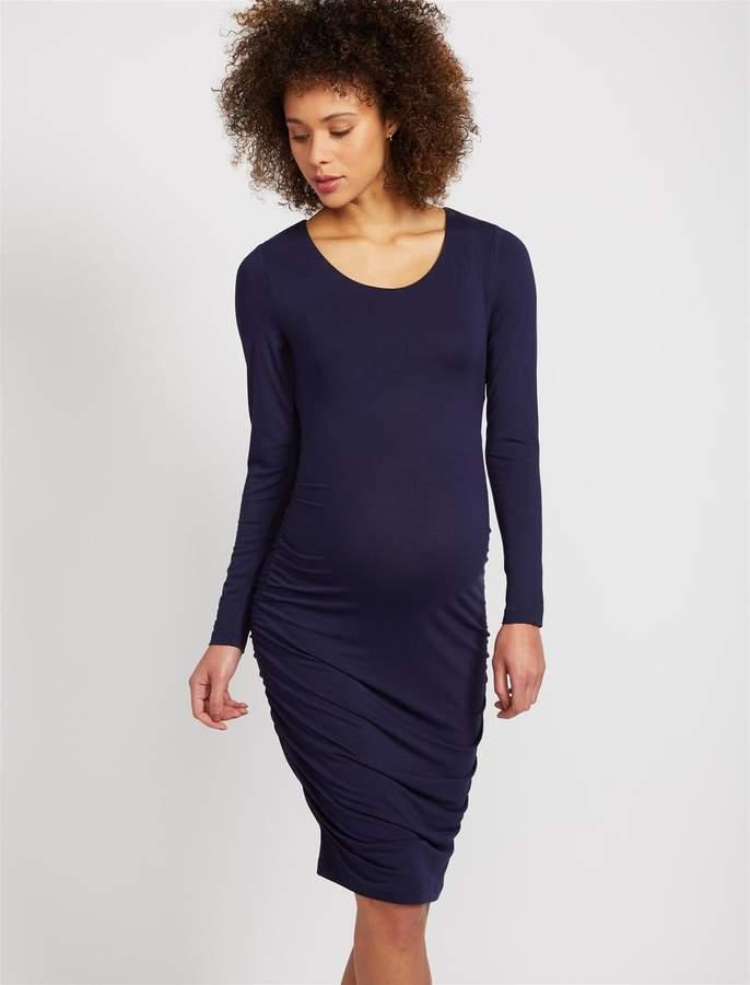 4af7e961fe7 Side Ruched Maternity Dress - ShopStyle