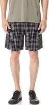 Zanerobe Linen Omni Check Shorts