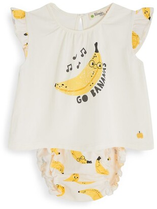 The Bonnie Mob Banana Print Top And Bloomers Set (3-24 Months)