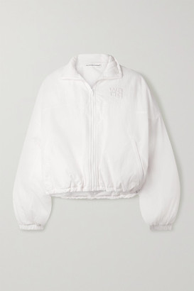 Alexander Wang Cropped Embroidered Shell Jacket - White
