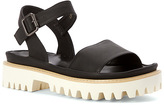 All Black Women's Lugg Band Sandal