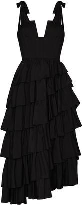 Ulla Johnson Valentina tiered silk midi dress