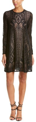 BCBGMAXAZRIA Azria Women's Natyly Long Sleeve a Line Dress