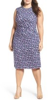 Nic+Zoe Plus Size Women's Groundwork Knit Sheath Dress