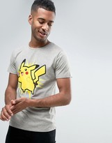 Jack and Jones Core Pokemon T-Shirt With Pikachu Print