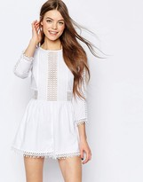 Asos Embroidered Cotton Romper