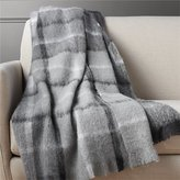 CB2 Alpaca Black And White Plaid Throw