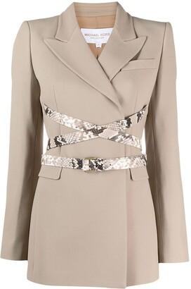 MICHAEL Michael Kors Wrap-Style Belted Blazer