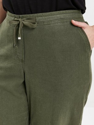 Evans Linen Cropped Trousers