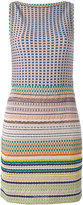 Missoni boatneck striped fitted dress - women - Silk/Polyamide/Polyester/Viscose - 40