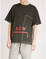 A-Cold-Wall* A_COLD_WALL Logo-print cotton-jersey T-shirt