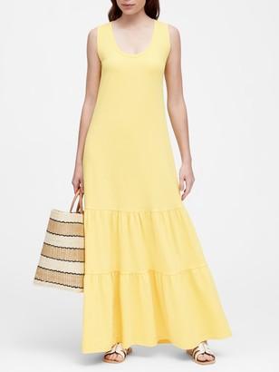 Banana Republic Petite Tiered Maxi Dress