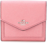 Coach metallic leather wallet