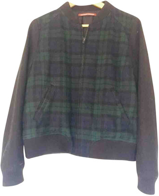 Comptoir des Cotonniers Green Wool Leather jackets