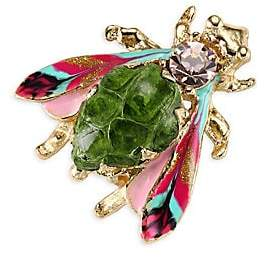 Gas Bijoux Women's Glass Cabochon Insect Brooch