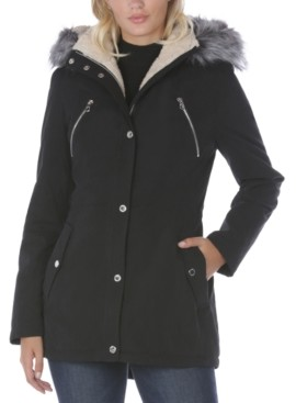 Nautica Faux-Fur Trim Hooded Anorak