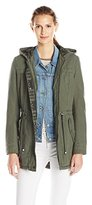 Levi's Women's Washed Cotton Hooded Midweight Anorak with Aztec Detail