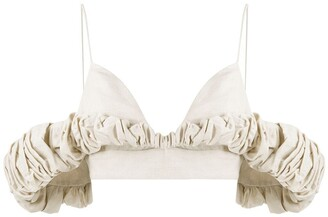 Jacquemus Off-The-Shoulder Bralet Top