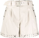 Twin-Set Twin Set studded belted shorts