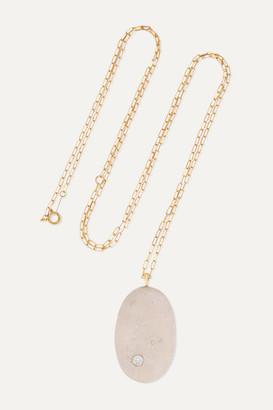 Cvc Stones Sprite 18-karat Gold, Stone And Diamond Necklace - one size