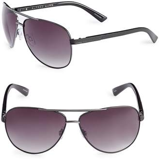 Alfred Sung 62mm Mesh Trim Aviator Sunglasses
