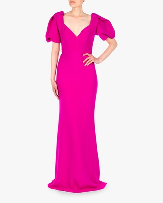 Badgley Mischka Butter Crepe Gown