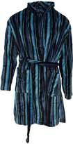 Pierre Roche Mens Super Soft Stripe Design Dressing Gown/Robe (Burgundy/Bue/Navy)