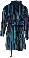 Pierre Roche Mens Super Soft Stripe Design Dressing Gown/Robe (Tea/Bue/Back)