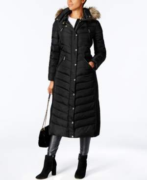 Michael Kors Michael Faux-Fur Trim Hooded Down Coat