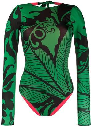 La DoubleJ Color-Block Printed Surf Suit