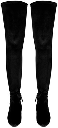 Le Monde Beryl Black Velvet Over Knee Boots