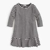 J.Crew Girls' ruffle-hemmed dress in stripes